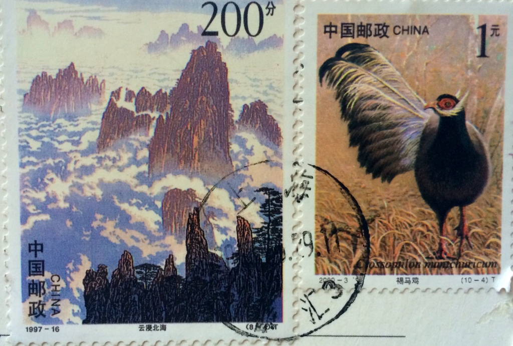 UNSECO site, Mt. Huang in China, and a very fancy bird!